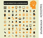 information   knowledge icons  | Shutterstock .eps vector #425325901