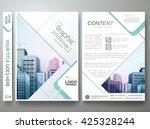 brochure design template vector.... | Shutterstock .eps vector #425328244
