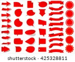 ribbon vector icon set red... | Shutterstock .eps vector #425328811