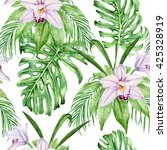 watercolor bright gentle orchid ... | Shutterstock . vector #425328919