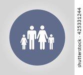 family icon. flat design style... | Shutterstock .eps vector #425331244