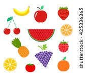 color fruits icon isolated on... | Shutterstock .eps vector #425336365