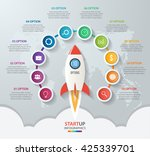 startup vector circle... | Shutterstock .eps vector #425339701