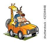 animal take car | Shutterstock .eps vector #42534448