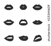 lips icons | Shutterstock .eps vector #425344609