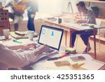 business team at work. open... | Shutterstock . vector #425351365