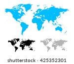 world map vector illustration... | Shutterstock .eps vector #425352301