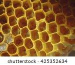 honey comb closeup  | Shutterstock . vector #425352634