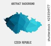 czech republic map in geometric ... | Shutterstock .eps vector #425354977
