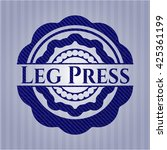 leg press emblem with jean... | Shutterstock .eps vector #425361199