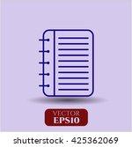 note book symbol | Shutterstock .eps vector #425362069