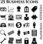 25 businessicon set. minimal...   Shutterstock .eps vector #425362261