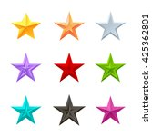 colored stars icons set.... | Shutterstock .eps vector #425362801