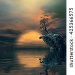 3d illustration of landscape... | Shutterstock . vector #425366575