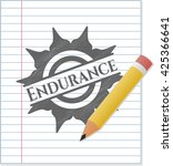 endurance draw with pencil...   Shutterstock .eps vector #425366641