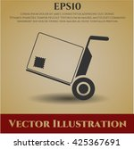 cargo icon vector symbol flat... | Shutterstock .eps vector #425367691