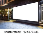blank mock up of store street... | Shutterstock . vector #425371831