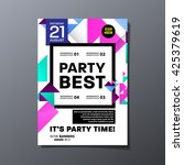 party flyer template. vector... | Shutterstock .eps vector #425379619