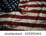 old american flag background... | Shutterstock . vector #425392441