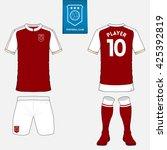 set of soccer or football kit... | Shutterstock .eps vector #425392819