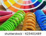 metal  car spring parts coated...   Shutterstock . vector #425401489