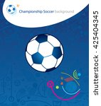 europe. 2016 championship... | Shutterstock .eps vector #425404345
