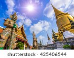 giant in grand palace and wat... | Shutterstock . vector #425406544