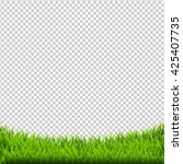 green grass border isolated ... | Shutterstock .eps vector #425407735