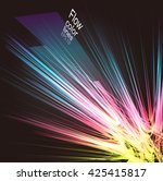 moving colorful lines of... | Shutterstock .eps vector #425415817