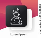 occupation line icon | Shutterstock .eps vector #425418109