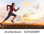 athlete trail running... | Shutterstock . vector #425420089