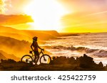 Mtb Cyclist Mountain Biking...