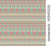 native ethnic seamless pattern...   Shutterstock .eps vector #425425231