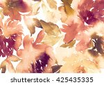 floral background. watercolor... | Shutterstock . vector #425435335