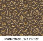 cooking utensil seamless... | Shutterstock .eps vector #425440729