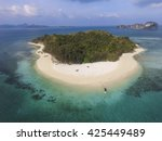 aerial view of isolated... | Shutterstock . vector #425449489