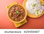 rajma or razma is a popular...   Shutterstock . vector #425450407