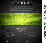 brochure dark technology... | Shutterstock .eps vector #425452585