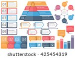 set of infographic elements  ... | Shutterstock .eps vector #425454319