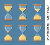 transparent sandglass icons set ... | Shutterstock .eps vector #425454334