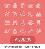wedding outline icon set on...   Shutterstock . vector #425457835