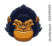 angry ape gorilla face | Shutterstock .eps vector #425459359