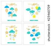 newborn card. illustration of... | Shutterstock .eps vector #425460709