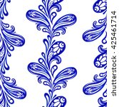 vector floral blue indian... | Shutterstock .eps vector #425461714