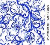 vector floral watercolor... | Shutterstock .eps vector #425461801