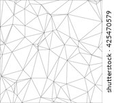 wireframe polygon background or ... | Shutterstock .eps vector #425470579