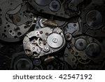 close up of antique clockwork.... | Shutterstock . vector #42547192