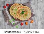 stack of not sweet frying flour ...   Shutterstock . vector #425477461