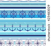 seamless nautical blue colorful ...   Shutterstock .eps vector #425483029