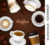 abstract background with coffee | Shutterstock .eps vector #425484829